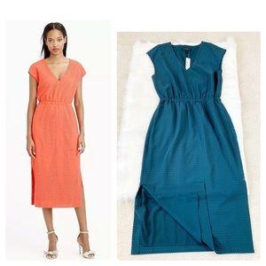J Crew Perforated drapey side-slit dress